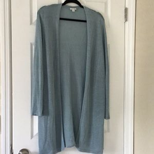 JJill linen duster sweater